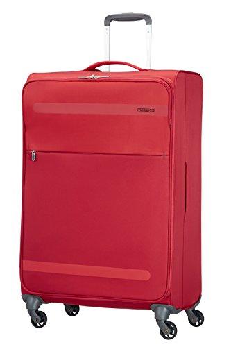American Tourister Herolite Super Light Spinner Valigia, 74 cm, 95 litri, Formula Red