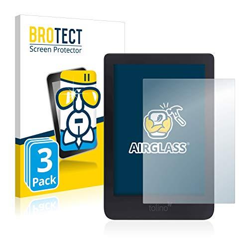 BROTECT Panzerglas Schutzfolie kompatibel mit Tolino Shine 3 (3 Stück) - AirGlass, 9H Härte, Anti-Fingerprint, HD-Clear