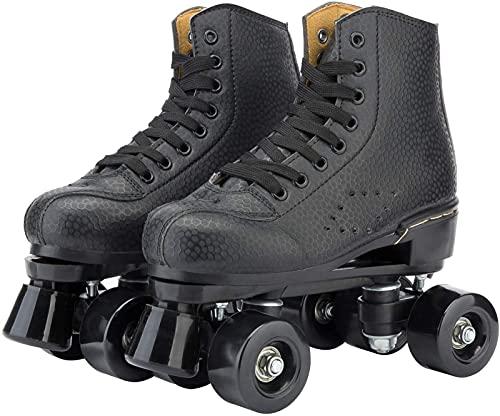Rollerskates Damen, rollschuhe schuhe,rollschuhe für kinder,Unisexe Skates,schuhe mit rollen ,QuadRollschuhStiefel,rollschuhe schwarz,rollschuhe herren,Geschenke für Kinder,Beste Wahl,Schwarz2-44