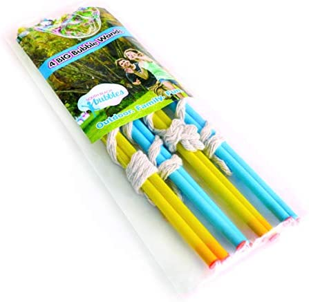 4 Big Bubble Wands Making Giant Bubbles Great Birthday Activity and Party Favor Giant Bubble product image