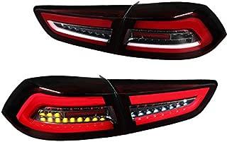 For Mitsubishi Lancer/Lancer EVO X Red/Clear Full LED Rear Tail Brake Lights Pair