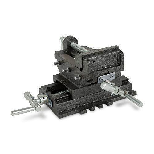 EBERTH 2 Achsen Kreuztisch (100 mm - 150 mm Backenbreite, Spannbreite 78 mm - 115 mm, Querhub 90 mm - 130 mm, Schwalbenschwanzführung, massive Bauweise)