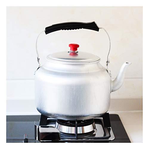 ARTFFEL Stick Traditionelle alte Verdickung reines Aluminium Wasserkocher Kohleofen Gasherd Haushalt im Freien Tee Kaffeekanne Teekanne 3-10L Sauber (Capacity : 10L)