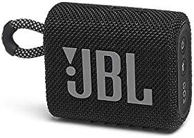 JBL GO 3 Bluetoothスピーカー USB C充電/IP67防塵防水/パッシブラジエーター搭載/ポータブル/2020年モデル ブラック JBLGO3BLK 【国内正規品/メーカー1年保証付き】