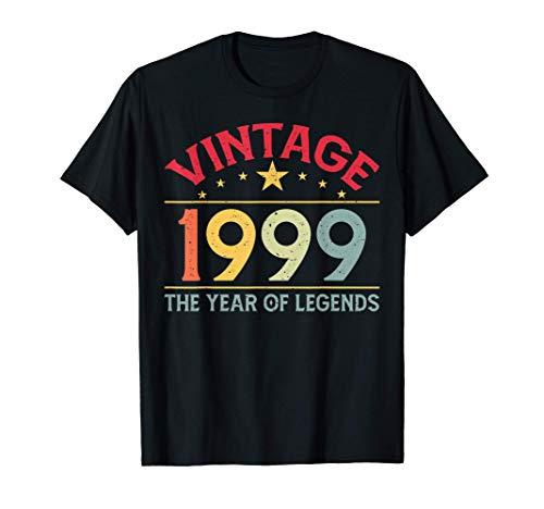 Vintage 1999 21st Birthday Gift Ideas Men Women Him Her T-Shirt
