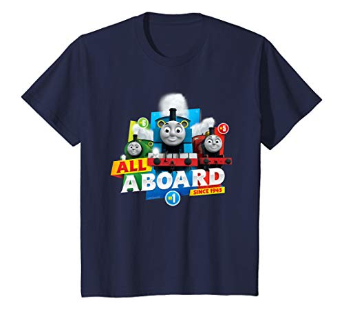 Youth Thomas T-Shirt, Official, All Aboard, Multiple Colours