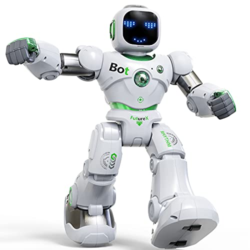 Ruko Large Smart Robot Toys for Kids, RC Robot Carle with Voice and app Control, Gifts for 4-9 Years Old Boys and Girls, Programmable and Interactive with Gravity Sensoring