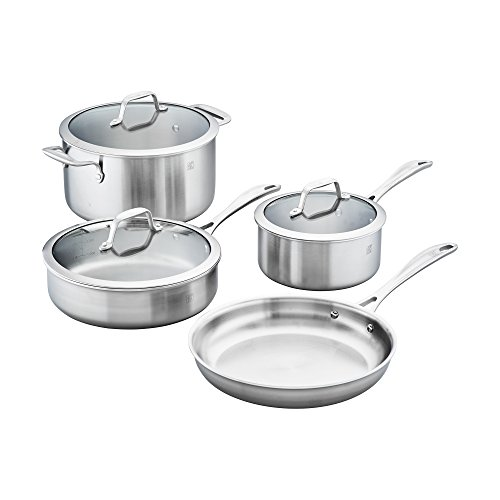 of zwilling j a henckels cookware sets ZWILLING Spirit Stainless Stainless Steel Cookware Set, 7pc
