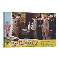 映画1954年の刑務所の餌キャンバスポスター壁アートの装飾リビングルームの寝室の装飾のための絵画の印刷キャンバスポスター寝室の装飾スポーツ風景オフィスルームの装飾ギフト 08x12inch(20x30cm)