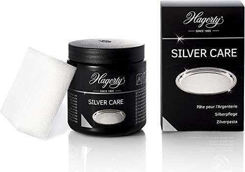 Hagerty Silver Care Silber Paste 185 g I Effiziente Polierpaste zur Reinigung & Pflege von Silber & versilbertem Metall I Silberputzmittel für angelaufene Silberwaren Teller Tabletts I inkl Schwamm