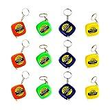 Toyvian Herramienta de Regla de Medición de Cinta de Costura de Cinta Métrica Retráctil Mini para Ropa Al Aire Libre 12 Piezas (Color Surtido)