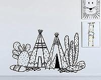 保育園ティーピーウォールステッカースカンジナビアキッズデコレーションインドティーピーウォールステッカーサボテンデカールスカンジウォールデコレーションキッズ子供用