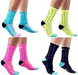 4 pares de calcetines deportivos para bicicleta y para todo terreno, sin algodón.