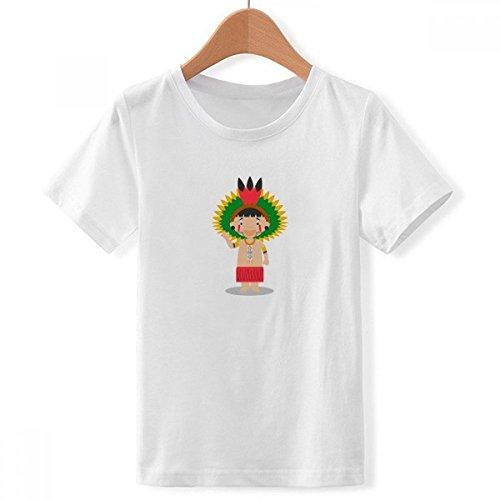 DIYthinker Amazon Brasil Venezuela tripulación de Dibujos Animados de Cuello Camiseta para Chico Multicolor Grande