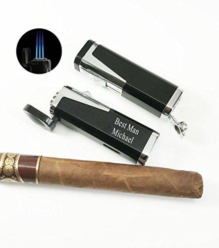Groomsman,Groomsmen, Best man gift-Personalized,engraved Cigar torch lighter, Cigar cutter, Butane lighter-Graduation gift