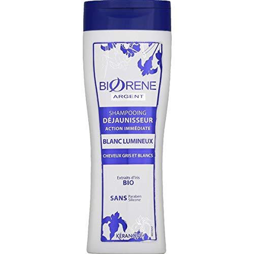 Biorène Shampooing déjaunisseur blanc éclatant - Le flacon de 250 ml