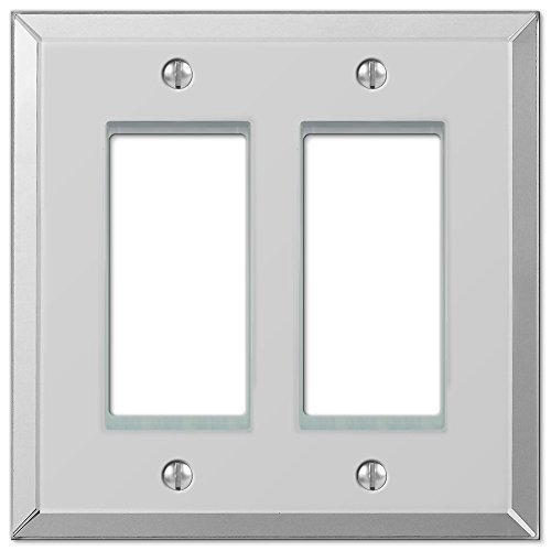 Amerelle Mirror Double Rocker Wallplate in Clear -