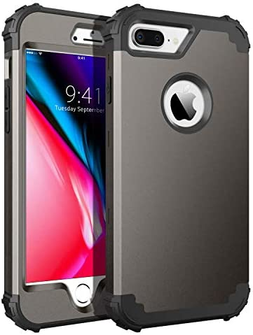 BENTOBEN Case for iPhone 8 Plus iPhone 7 Plus Case 3 in 1 Hybrid Hard PC Soft Rubber Heavy Duty product image