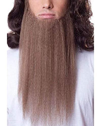 15' Long Beard Color Grey - Sepia Costume Wigs ZZ Duck Dynasty Face Hair Fiber Hillbilly Top Fake #946