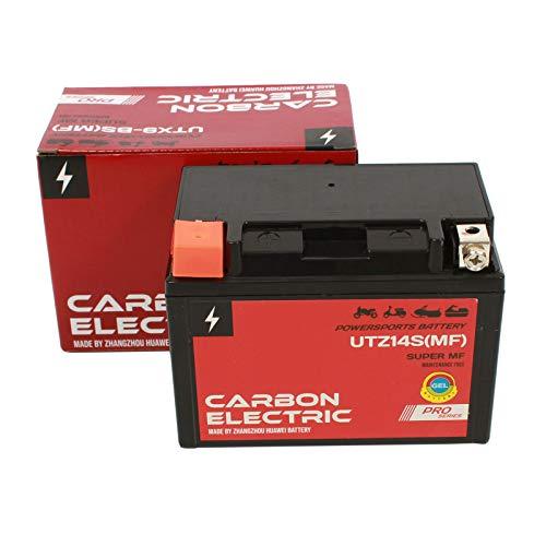 Carbon Electric YTZ14S MF Gel Batterie 12 V 11.2 Ah UTZ14S MF Wartungsfrei Versiegelt Motorrad Roller Motorradbatterie Rollerbatterie