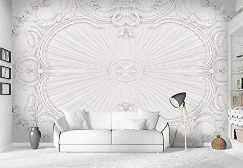 Wallpaper 3D White Plaster Relief Pattern Wallpaper Wall Mural Living Room Bedroom Tv Background Wall Mural Decoration Art