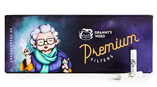 Granny's Exclusive Slim Aktivkohlefilter | Ø 5,9 mm Filtertips | Aus veganer Kokosaktivkohle | 100 Stück in hochwertiger Magnetverpackung | Für Selbstdreher