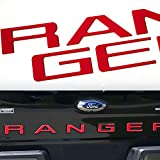 Okrex Ford Ranger Accessories Tailgate Insert Letters Compatible with Ranger Auto Safety Tailgate Letters for Ford Ranger 2019 2020 2021 3D Raised Rear Emblem Decals with Seccotine (RED)
