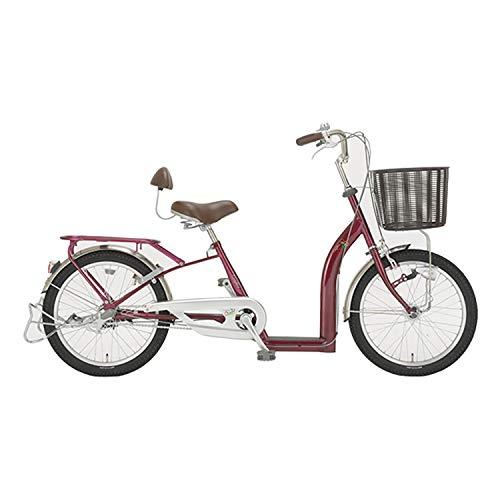 サギサカ(SAGISAKA) こげーる 20型 シニア向けサイクル 自転車 漕ぎやすい 9010 ワインレッド