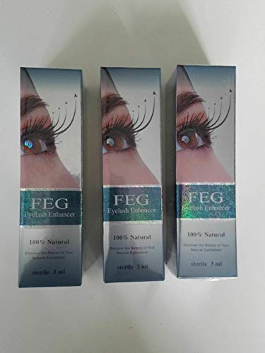 3 X FEG Eyelash enhancer!!! 3 pieces of most powerful eyelash growth Serum 100% Natural. Promote rapid growth of eyelashes!