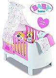 BABY Born Magisches Bett mit Sounds, kompatibel mit Puppen bis 46 cm, Bettwäsche und Kuscheltier, Spielzeug für Kinder ab 3 Jahren, BBY11