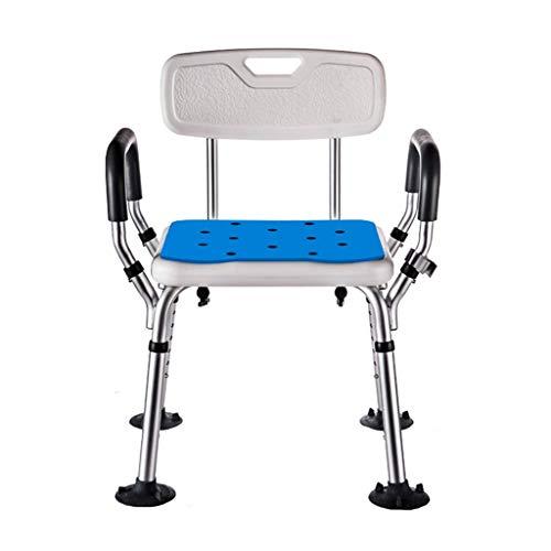 Accesorios de baño - Altura ajustable portátil taburete de ducha de baño de asiento, baño Ayuda for ancianos, discapacitados y minusválidos, Bañera Asiento de Banco, desmontable del respaldo y Sillón