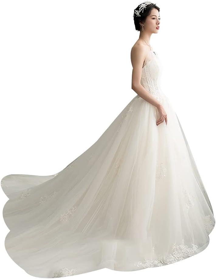 XHRHao Tube Price reduction Top Design 55% OFF Wedding Trai Dresses Women's One Shoulder