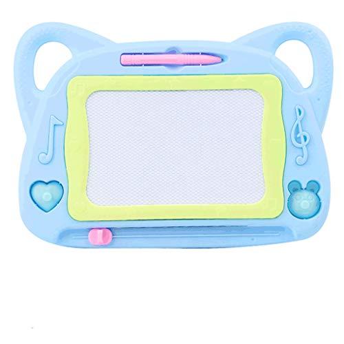 Agal Tablero de Dibujo Tablero de Dibujo de Color Infantil, Tablero de Dibujo de plástico magnético, para Regalos de Juguete para niños y niñas Tableta de Escritura (Color : Blue)