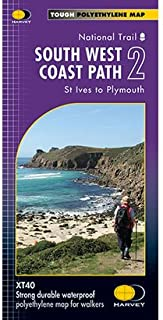 South West Coast Path 2 XT40: St Ives to Plymouth (Route Maps)