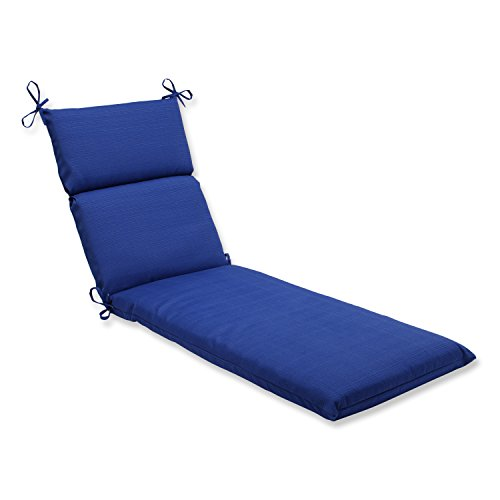 Pillow Perfect Outdoor/Indoor Veranda Cobalt Chaise Lounge Cushion, 72.5' x 21', Blue