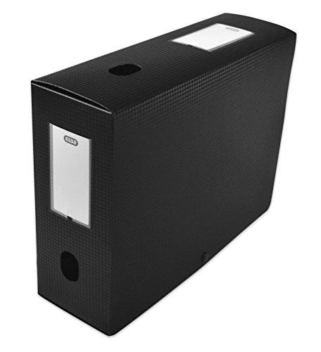 Elba 400094574 Boîte de classement à monter dos 100 mm polypropylène opaque 24 x 32 cm Noir