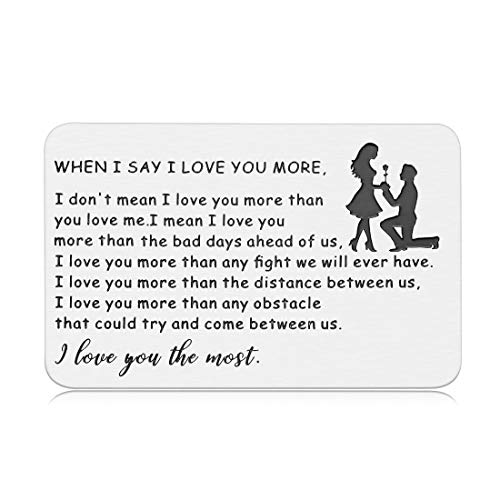 Engraved Wallet Card Insert Valentines Day Card Gifts For Men Husband Anniversary Card From Wife Romantic Love Note Wedding Gifts To Groom Sentimental Birthday Gift For Boyfriend From Girlfriend