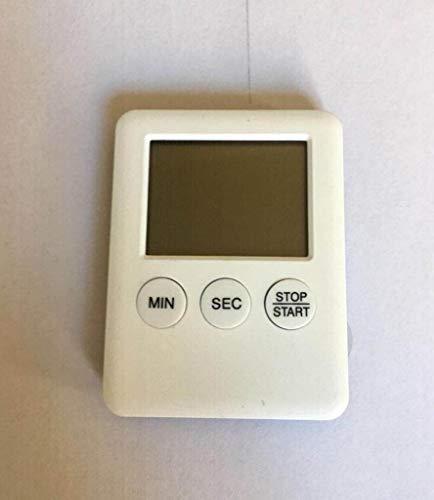 WWWANG Reloj de Cocina Temporizador electrónico Digital, recordatorio de la medicación de Cuenta atrás, la Pantalla LCD + ABS con el Medio Ambiente Almacenamiento pequeño, práctico y portátil