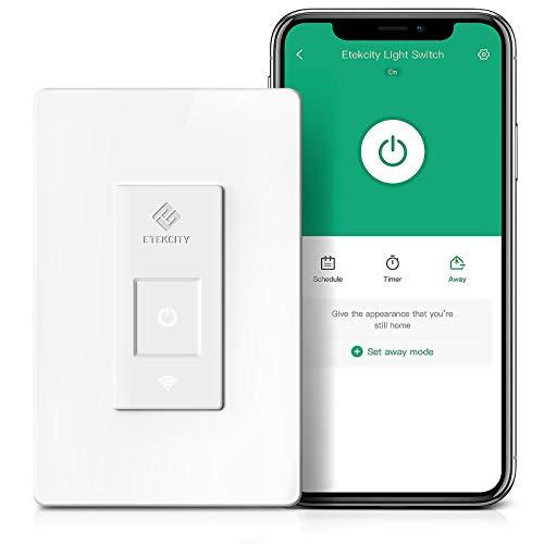 Smart Light Switch by Etekcity, WiFi Remote Control Switch with...