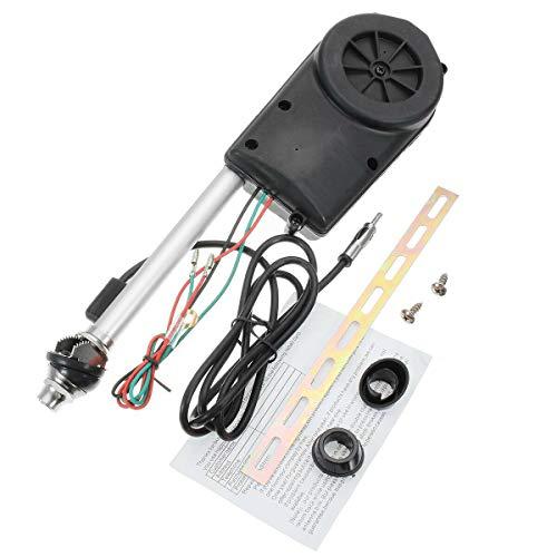 MASO Kit de montaje de antena eléctrica FM AM Radio para coche, antena totalmente automática