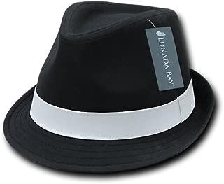 DECKY Basic Poly Woven Fedora Hats