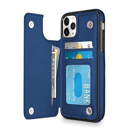 Oihxse - Funda anticaídas para Huawei P30 Pro, piel sintética, tarjetero, cartera con ranuras para tarjetas y ranuras para tarjetas