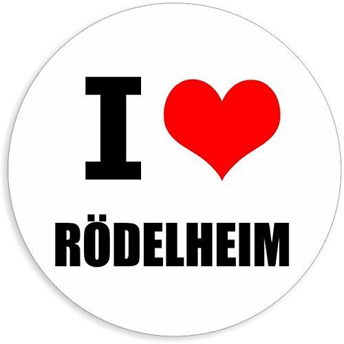 I love Rödelheim in 2 Größen erhältlich Aufkleber mehrfarbig Sticker Decal