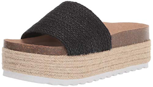 Dirty Laundry by Chinese Laundry Women's Platform Espadrille Sandal Wedge, Black, 7
