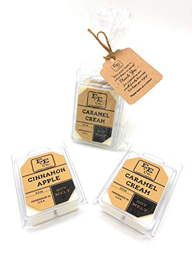 All Natural Soy Wax Melts (2 Pack) by E&E Company - Long Lasting Fragrances Infused with Essential Oil – Scented Soy Wax Cubes/Tarts for Electric/Tealight Warmers - Handmade in U.S.A. (Bakery)
