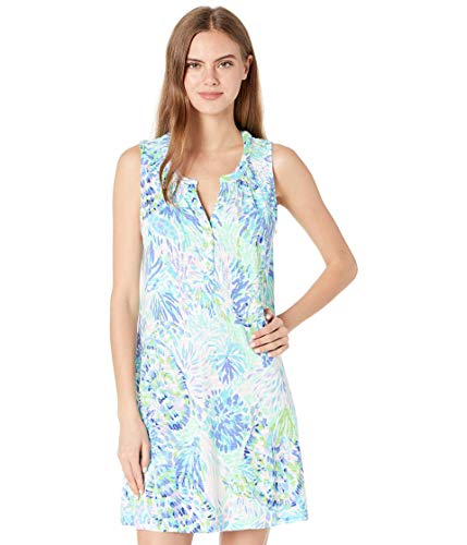 Lilly Pulitzer Women's Easy fit, Bra-Friendly, Sleeveless Dress with Button Front Placket, Multi Shell of a Party, M