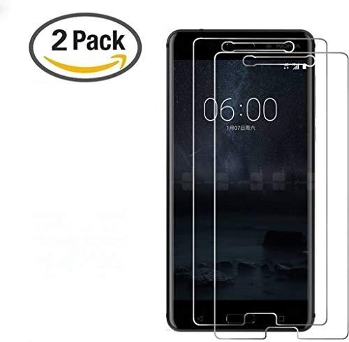 2 Stuks - Nokia 6 Glazen Screenprotector Tempered Glass