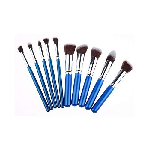 Sets de pinceaux de Maquillage 10 pinceaux de Maquillage 5 Grands 5 Petits pinceaux de Maquillage Ensemble Outils de beauté Portables Haute qualité Manche en Bois Brosse de Maquillage