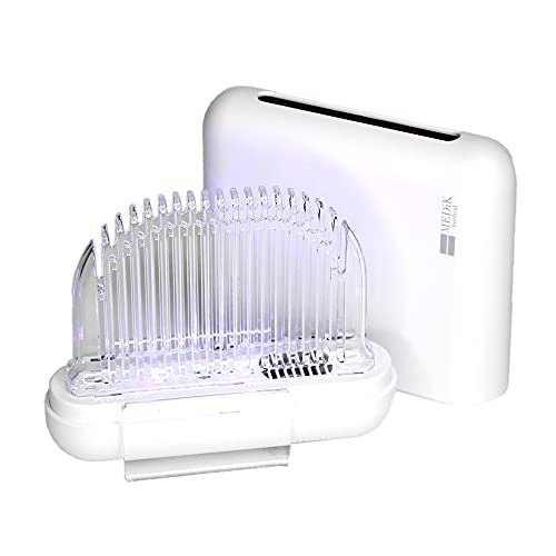 MEDIK ULTRAWAVE 充電式マスク除菌ケースtype:A+C Wの力で強力除菌 10分で除菌&乾燥 立体マスク対応 ホワイト MDK-M03WH