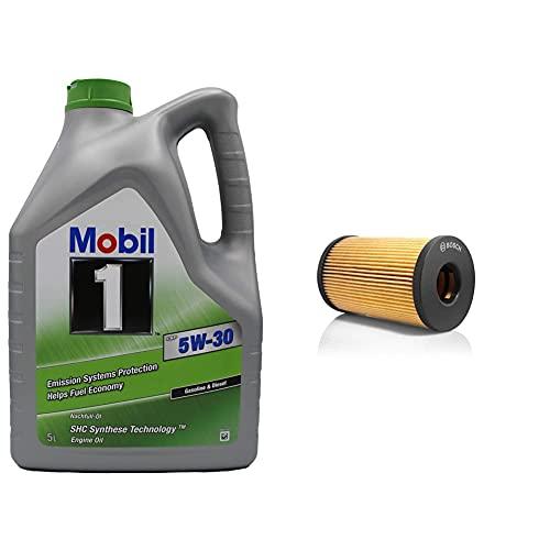 Mobil 1 ESP 5W-30, 5L & Bosch 1457429238 Ölfiltereinsatz P9238